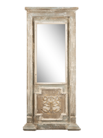 GANZ DISTRESSED GREY WITH GOLD WALL MIRROR