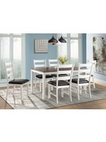 ELEMENTS MARTIN 6 PIECE DINING SET IN BROWN & WHITE