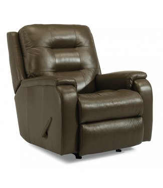 FLEXSTEEL ARLO ROCKER RECLINER IN LEATHER