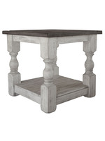 IFD 469END STONE WHITE END TABLE
