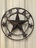 METAL WALL ART TEXAS STAR
