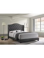 COASTER 310072KE 6/6 UPHOLSTERED BED SONOMA GREY