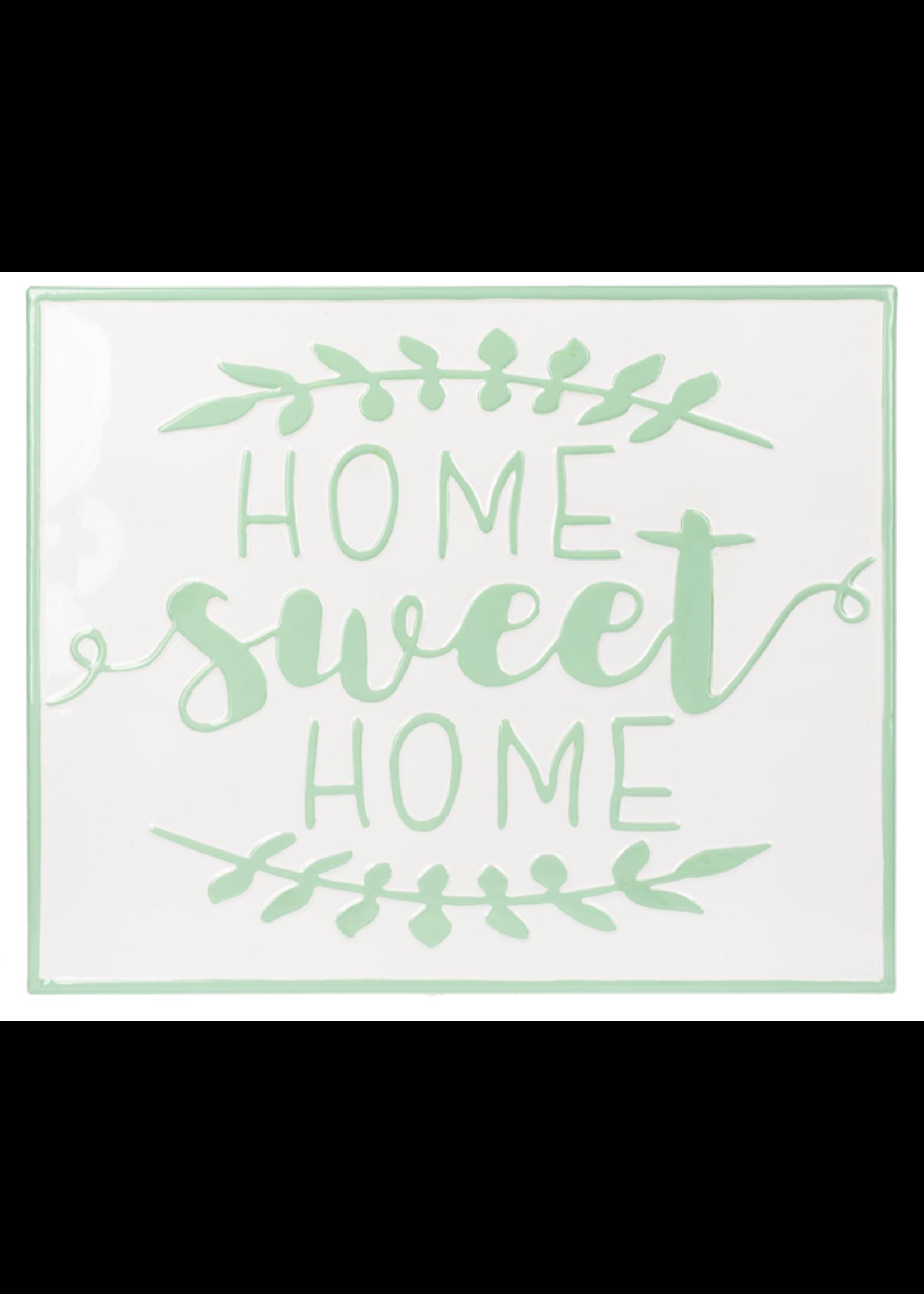 """GANZ CB172895 """"HOME SWEET HOME"""" IRON WALL ART MINT"""