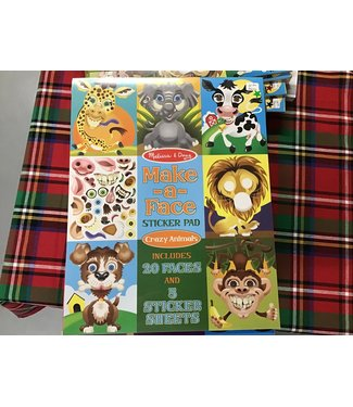 8605 MAKE A FACE STICKER PAD CRAZY ANIMALS