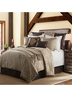 HIEND ACCENTS KING 3PC COMFORTER SET OATMEAL VELVET