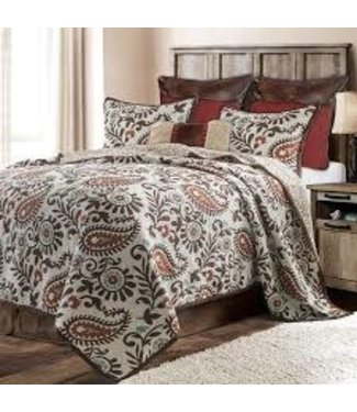HIEND ACCENTS REBECCA QUILT SET KING
