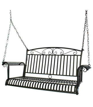 KINGSTON CASUAL 5159 FRENCH QUARTER SWING BLACK HAMMERED SILVER