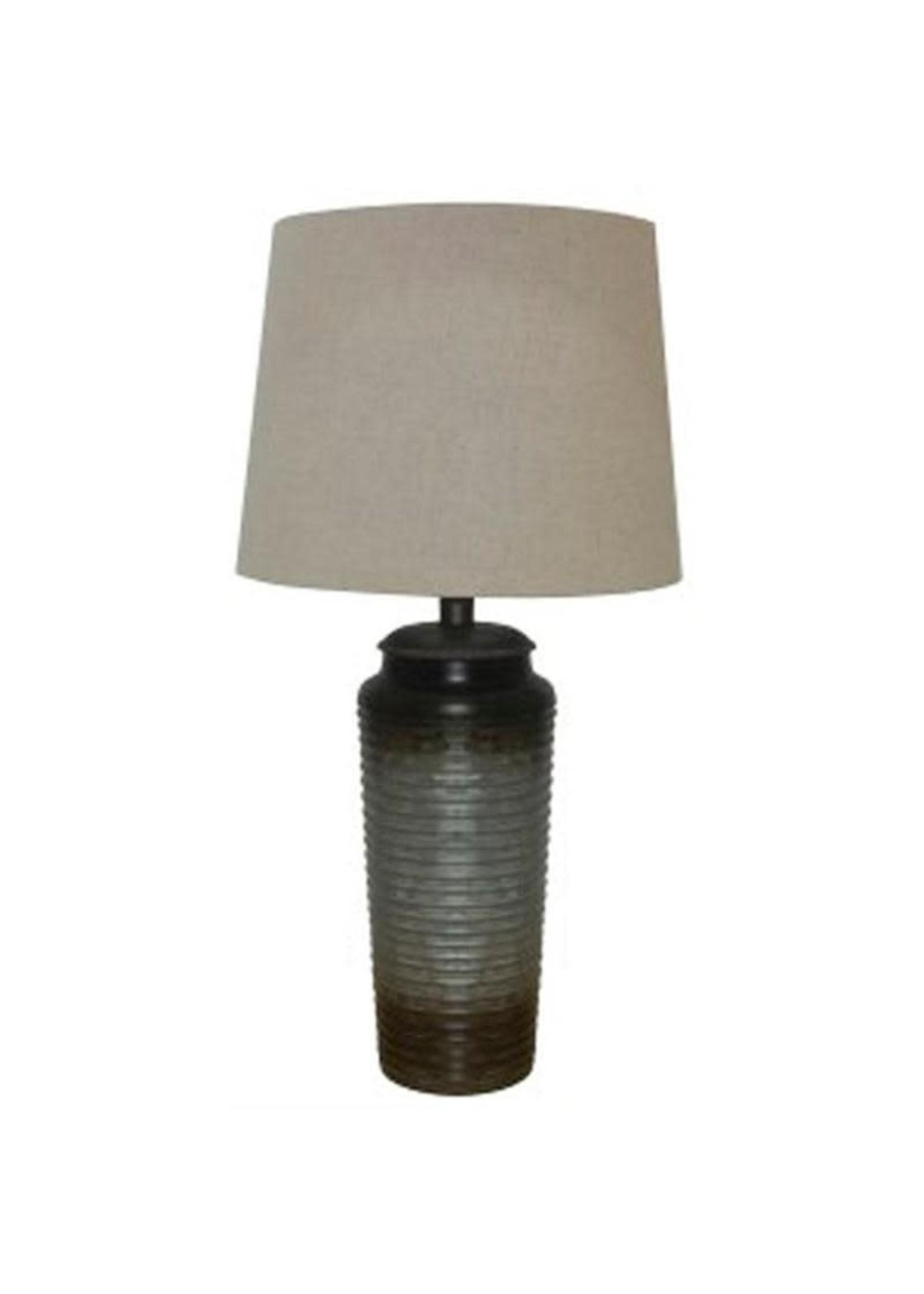 ASHLEY NORBERT METAL TABLE LAMP GREY