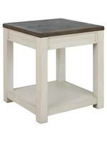 ASHLEY T751-2 END TABLE BOLANBURG BROWN/WHITE