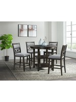 ELEMENTS AMHERST COUNTER HEIGHT DINING TABLE DARK FINISH
