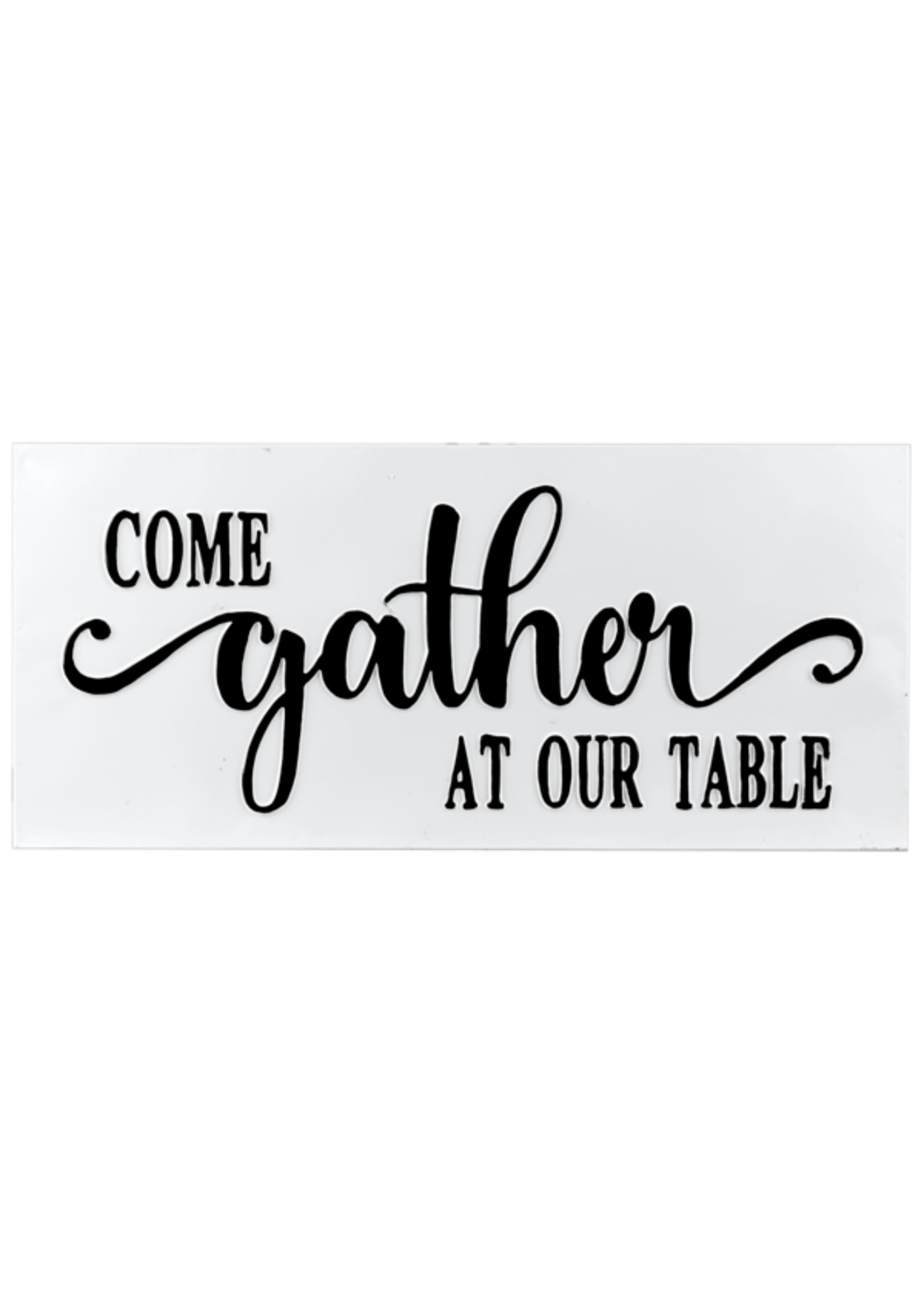 """GANZ CB174293 EMBOSSED """"COME GATHER AT OUR TABLE"""" WALL DECOR"""