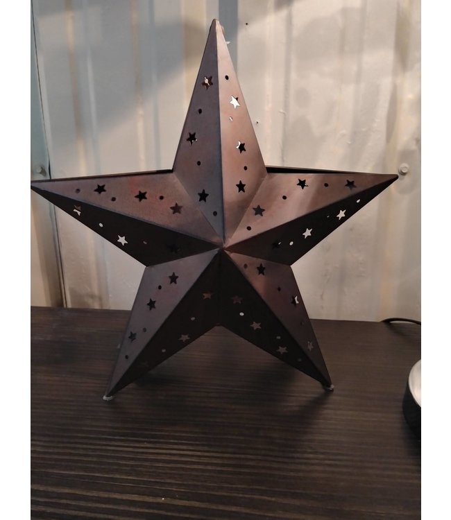 086439 STAR CANDLE HOLDER WITH STAR CUTOUTS