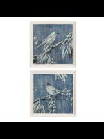 GANZ FRAMED BLUE BIRD WALL DECOR