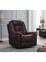 COASTER POWER RECLINER CHOCOLATE LEATHER
