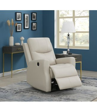 COASTER 609025P POWER RECLINER BEIGE LEATHERETTE