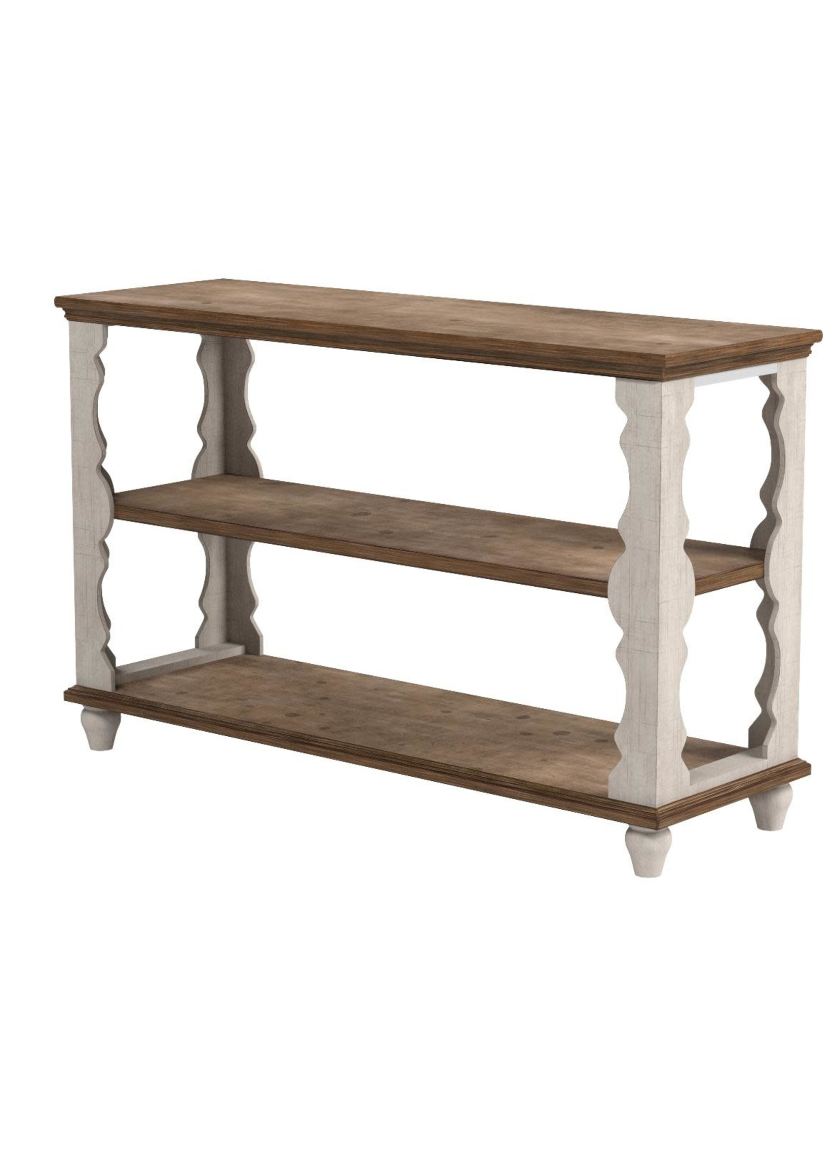 ASHLEY ALWYNDALE CONSOLE TABLE WHITE/BROWN