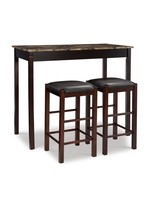 LINON 02859SET-01-KD-U TAVERN SET ESP WITH FAUX MARBLE TOP