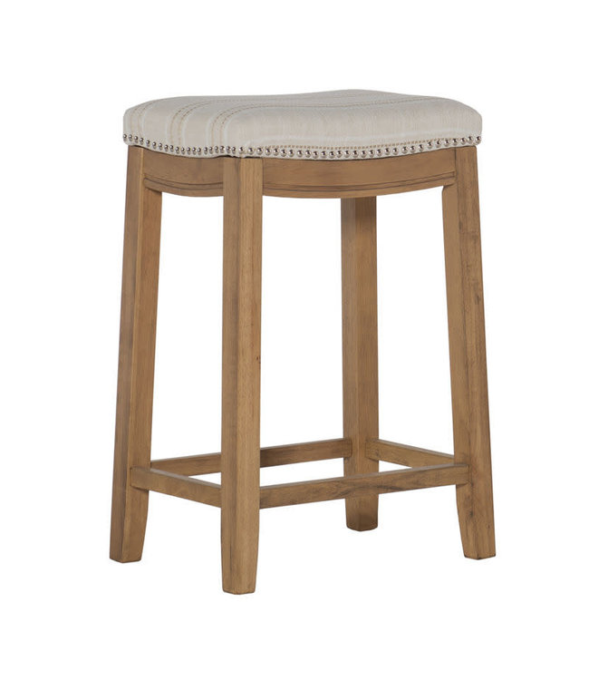LINON 983560FLK01U CLARIDGE COUNTER STOOL NAT STRIPE