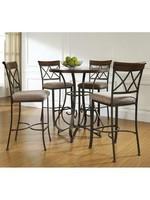 LINON 697-404M3 5PC HAMILTON PUB TABLE SET