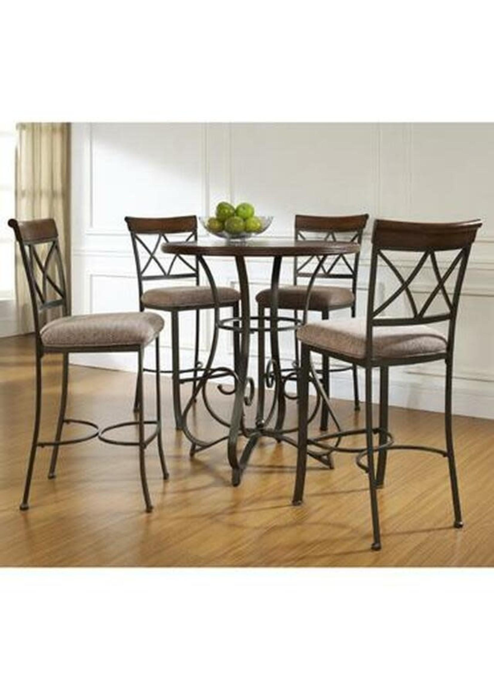 LINON 697-404M3 5PC HAMILTON PUB TABLE SET