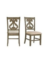 ELEMENTS DST350SC SIDE CHAIR SWIRL BACK STONE GRAY