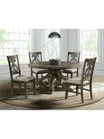 ELEMENTS DST380DT ROUND DINING TABLE STONE GRAY