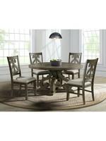 ELEMENTS STONE ROUND DINING TABLE GREY FINISH