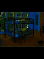 LINON 938-137 HEAVY METAL BLCK F F BUNK BED