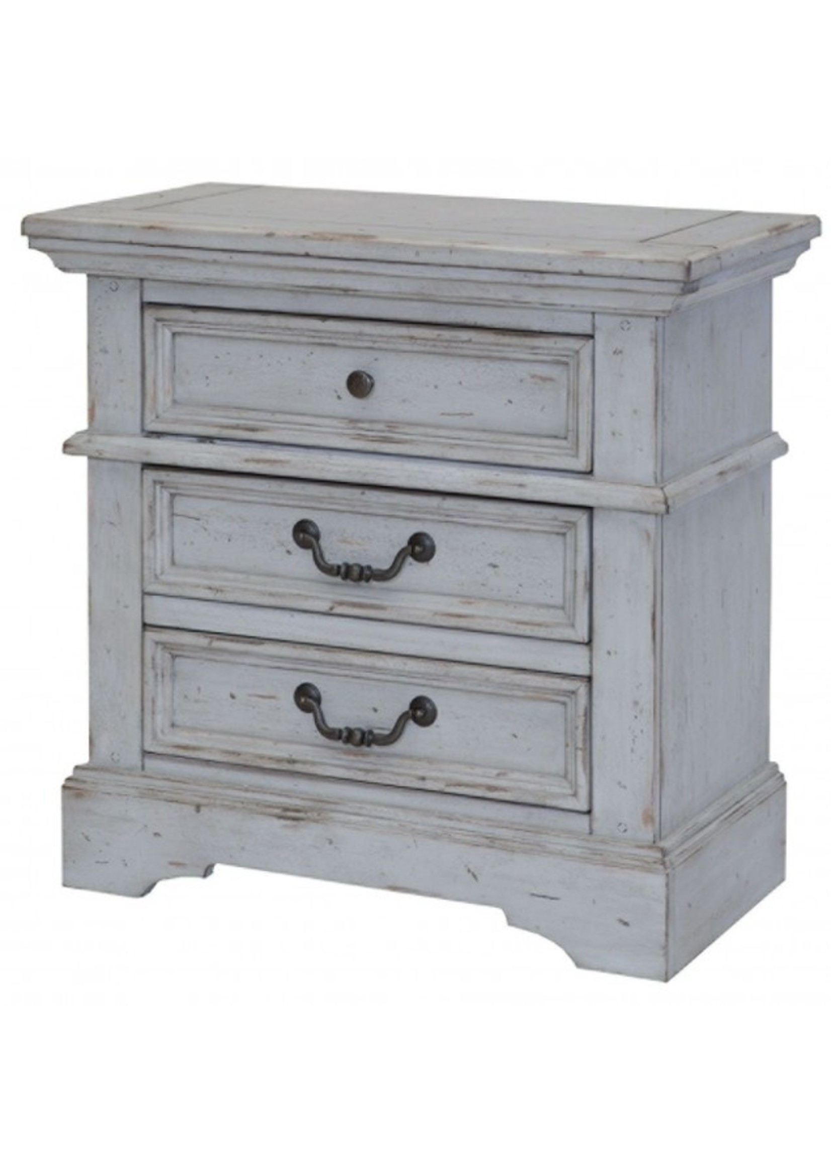 AMERICAN WDCRFT 7820-420 YOUTH NIGHTSTAND STONEBROOK GRAY