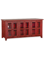 """SUNNY DESIGNS 70"""" TV CONSOLE BURNT RED FINISH"""