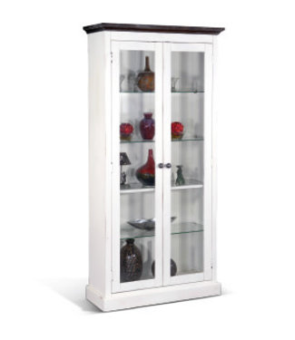 SUNNY DESIGNS CARRIAGE  DISPLAY CABINET EUROPEAN COTTAGE FINISH
