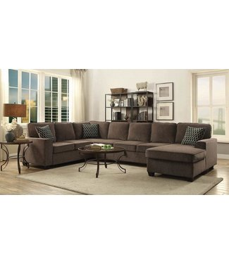 COASTER 501686 3 PC SECTIONAL PROVENCE BROWN