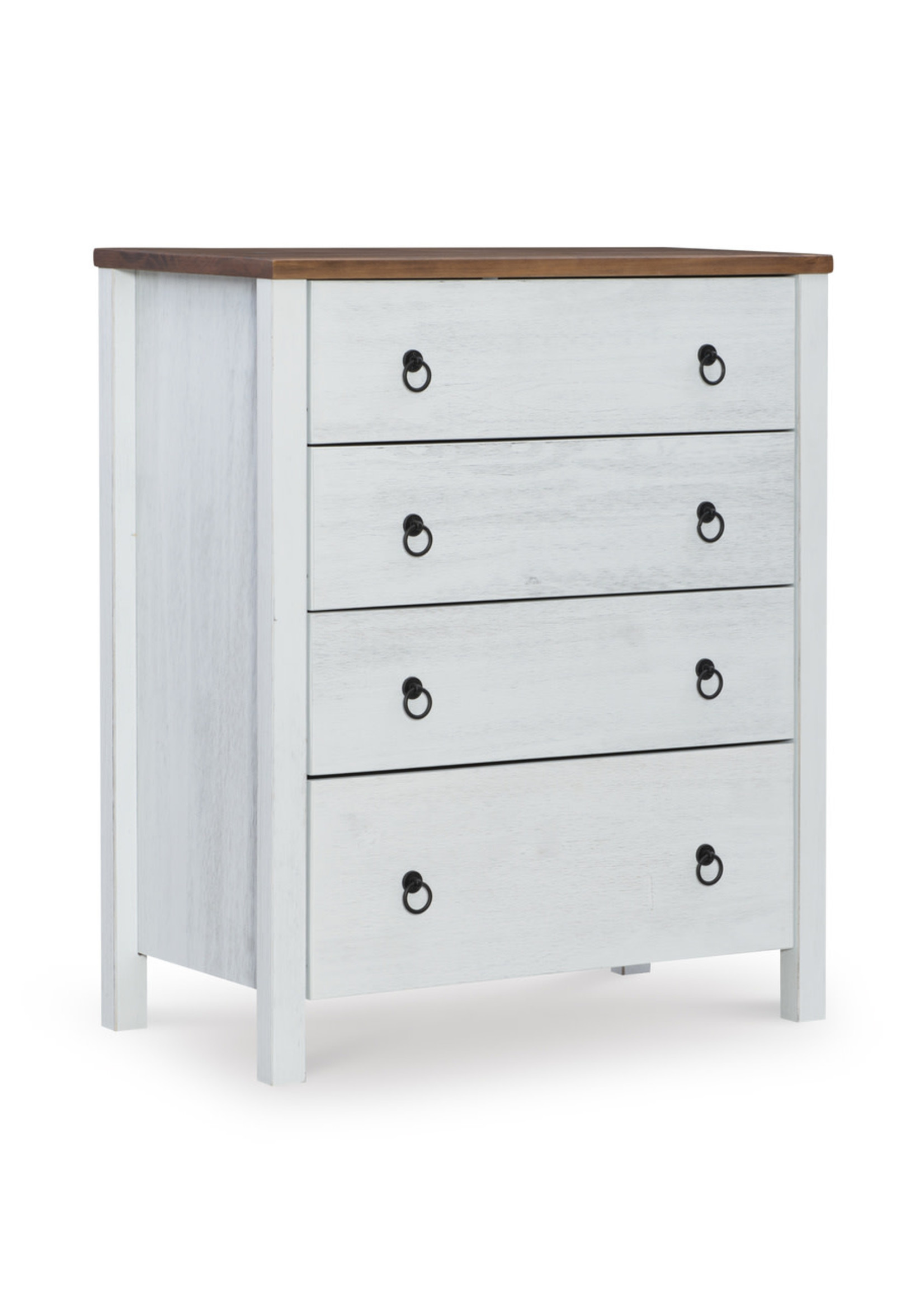 LINON 4 DR CHEST RUSTIC TWO TONE