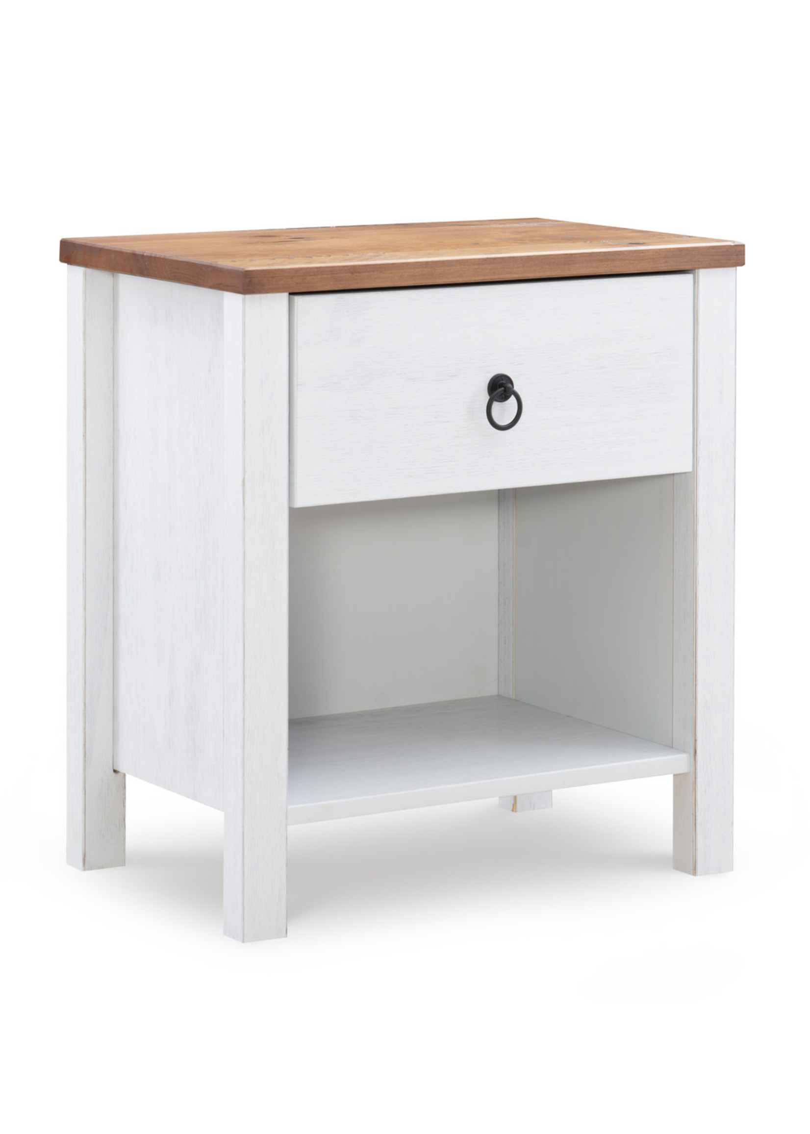 LINON 19Y2020NS NIGHTSTAND RUSTIC TWO TONE