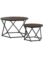 COASTER NESTING OCCASIONAL TABLES DARK BROWN