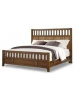 FLEXSTEEL KING PANEL BED SONORA