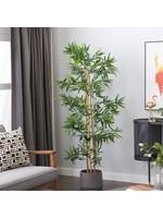 "UMA ENT. INC. 88291 ARTIFICIAL BAMBOO TREE IN POT 71""H"
