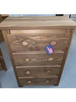 PINE CRAFTER MAHOGANY 4 DRAWER CHEST