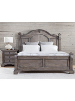 AMERICAN WDCRFT HEIRLOOM KING POSTER BED WIRE BRUSHED CHARCOAL