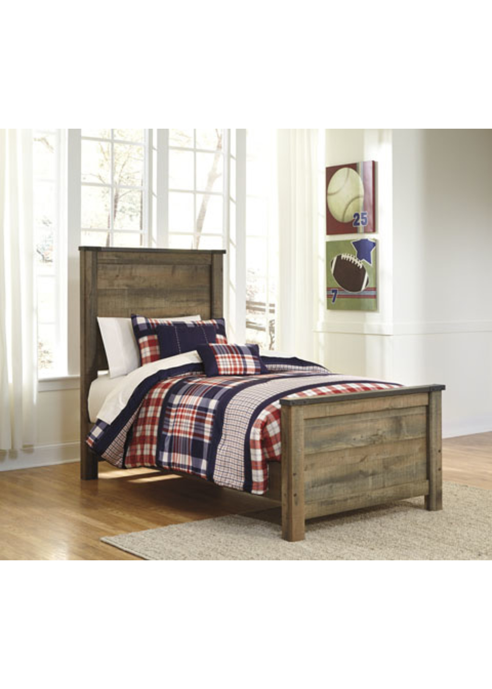 ASHLEY B446-52/53/83 3/3 TWIN PANEL BED TRINELL