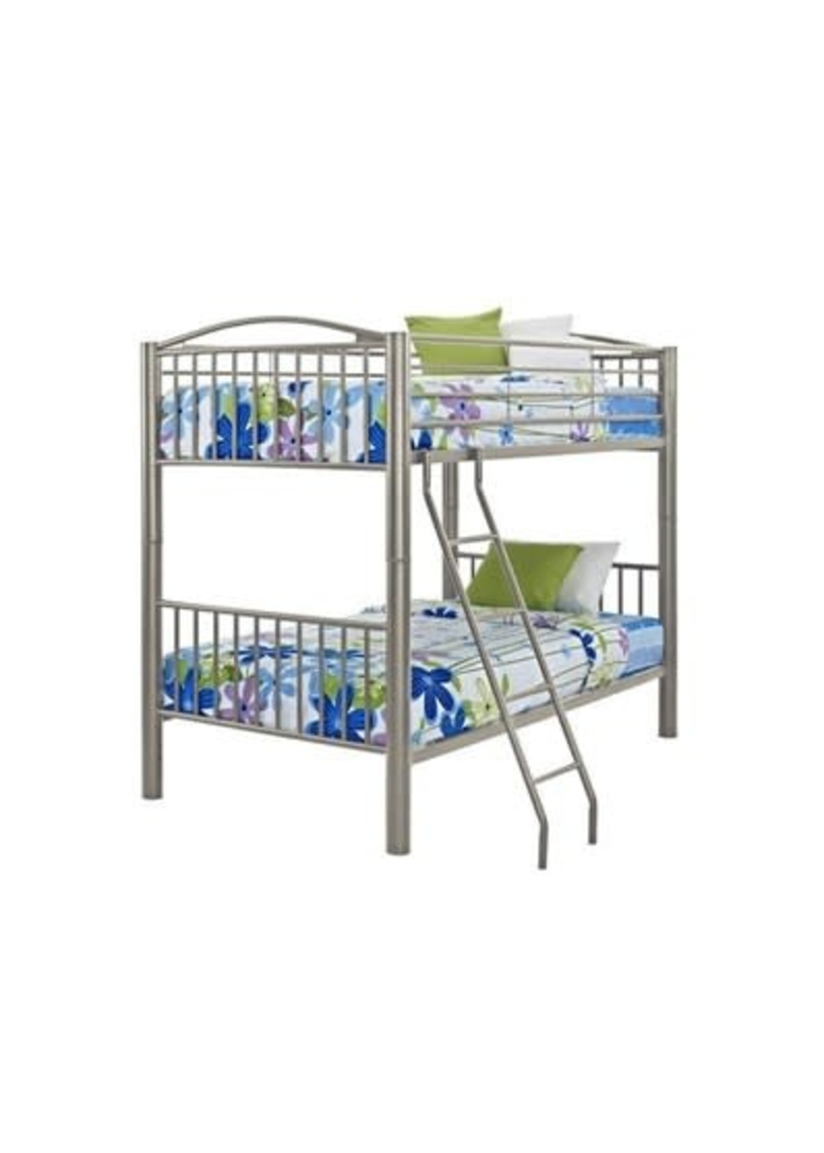 POWELL TWIN/TWIN HEAVY METAL BUNK BED PEWTER