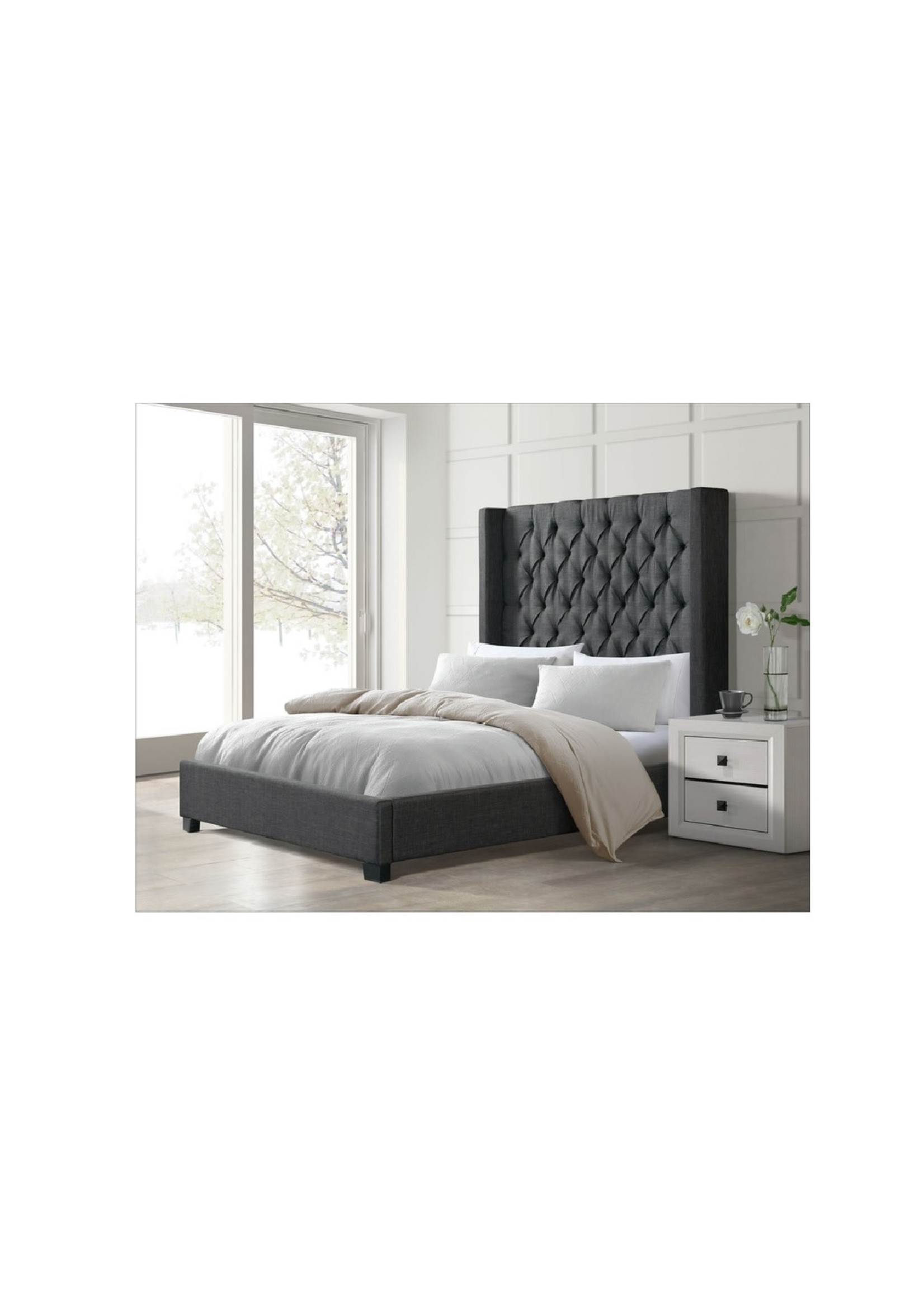 ELEMENTS KING BED MORROW HEIRLOOM CHARCOAL