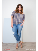 SIMPLY NOELLE SIMPLY SUBLIME TOP L/XL