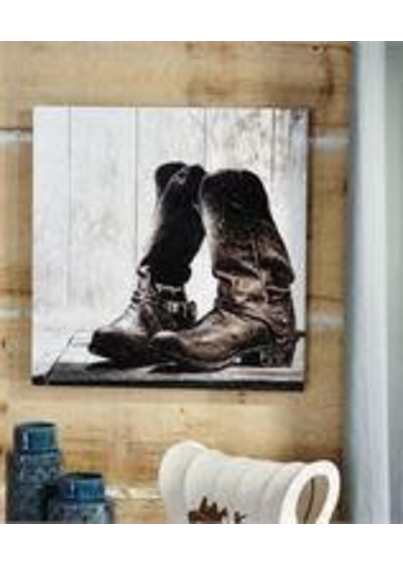 GIFTCRAFT WALL DECOR WALL PRINT COWBOY BOOTS