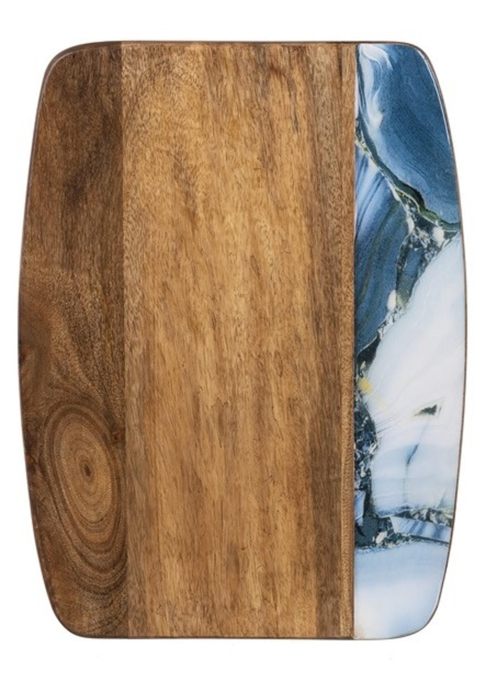 GANZ CB174773 CUTTING BOARD BLUE AGATE MANGO WOOD