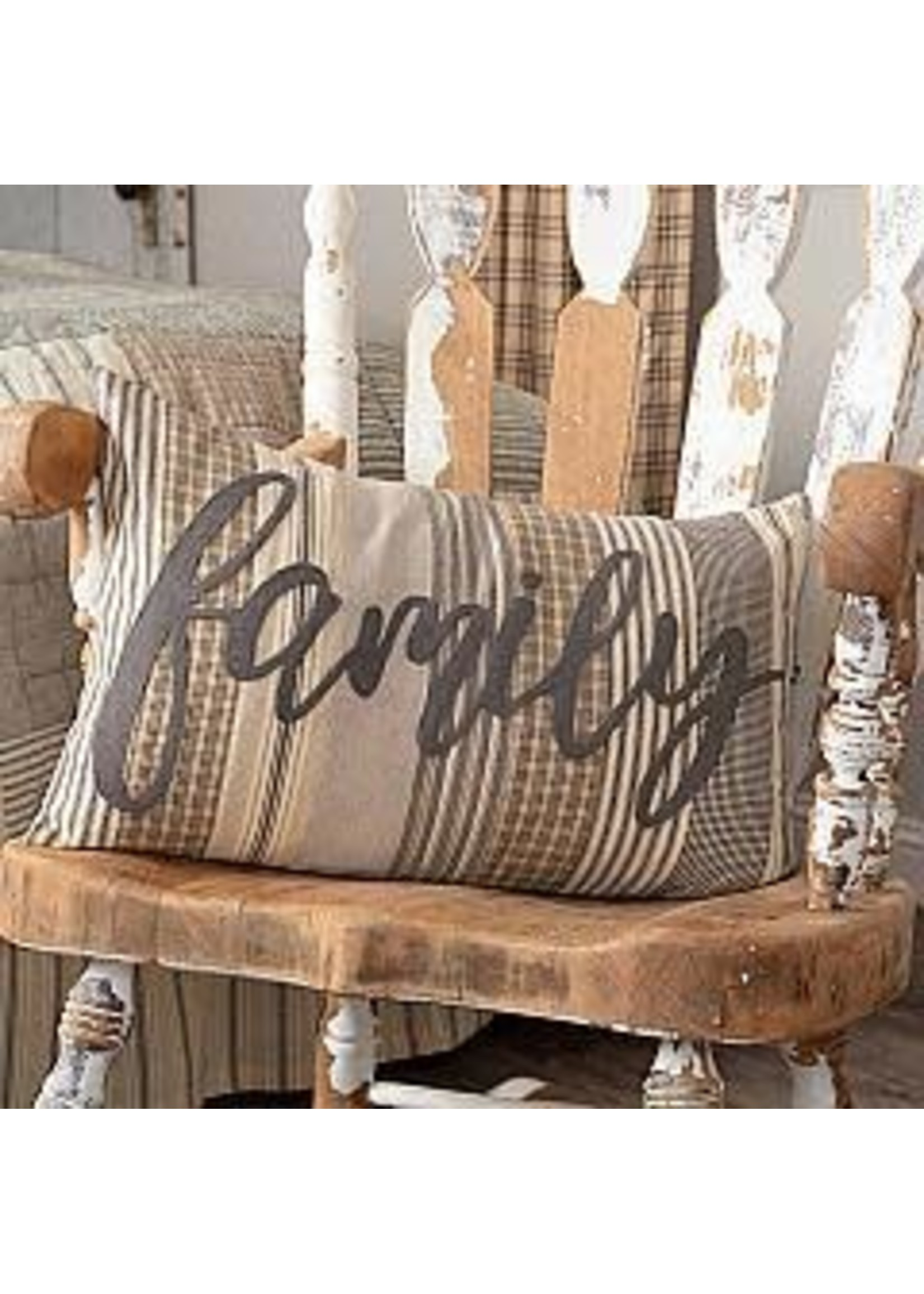 VHC SAWYER MILL CHARCOAL FAMILY PILLOW