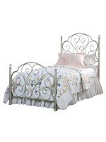 STANDARD 3/3 TWIN BED SPRING ROSE WHITE