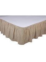 VHC SAWYER MILL QUEEN CHARCOAL BED SKIRT