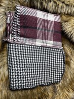 SIMPLY NOELLE WRP8008 PLAID & HOUNDSTOOTH WRAP