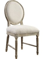 EMERALD HOME INTERLUDE UPHOLSTERED DINING SIDE CHAIR SANDSTONE BUFF
